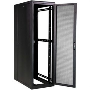 Doors: Perforated Front & Back Door  Standing Cabinet Fans: 4 Fans Included  Shelves: 2 x Full Depth Shelves Included  Cage Nuts: Can be Added from Options  Side Panels: Solid Panels - Removable and Lockable  Wheels: 4 x Castor Wheels  Feet: 4 x Stabalising Feet  Time to Assemble: 1-2 days (No Assembly fee charged)